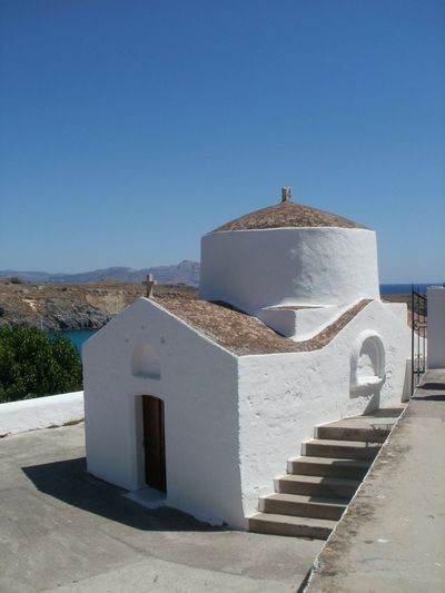 Architecture Greek Islands Greek church Ionian sea White Washed Building sunshine
