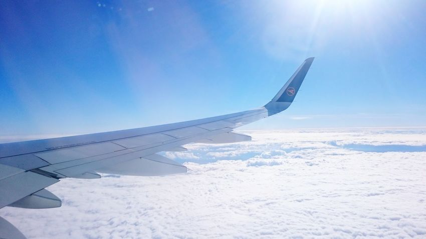 Travel Sky Blue White Clouds Flying Horizon Sunshine Over The Clouds Airplane Love Dreaming... ❤ ⛅ ✈