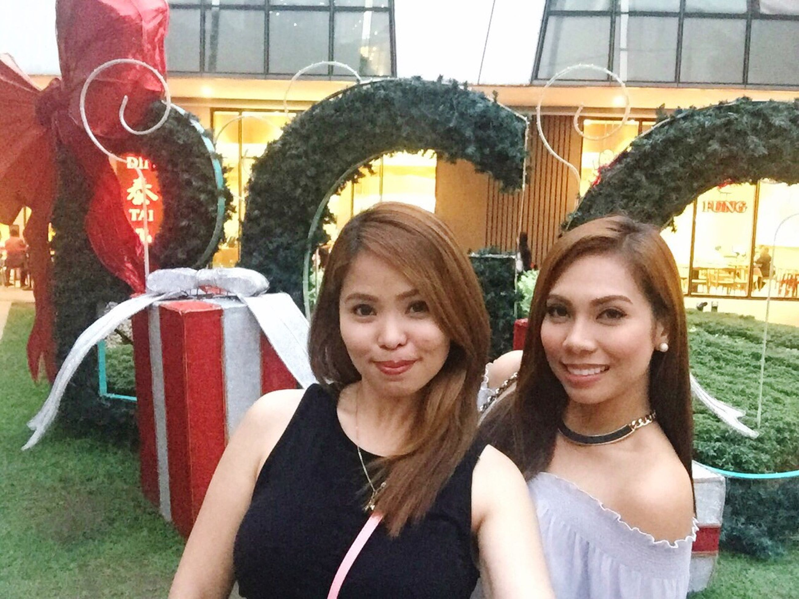 two people, smiling, looking at camera, portrait, headshot, happiness, adults only, day, outdoors, adult, young adult, real people, beautiful woman, young women, people, close-up, togetherness, cheerful, only women