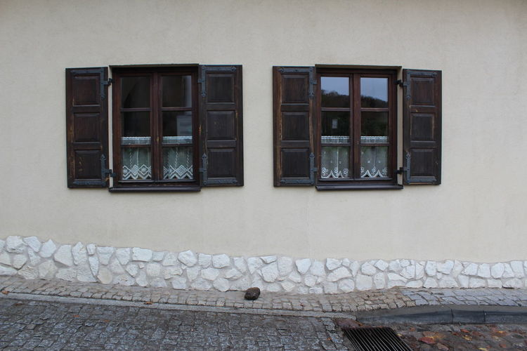 Road Rock Shutters Architecture Building Exterior Built Structure Day No People Outdoors Rock - Object Shutter Window Window Shutters