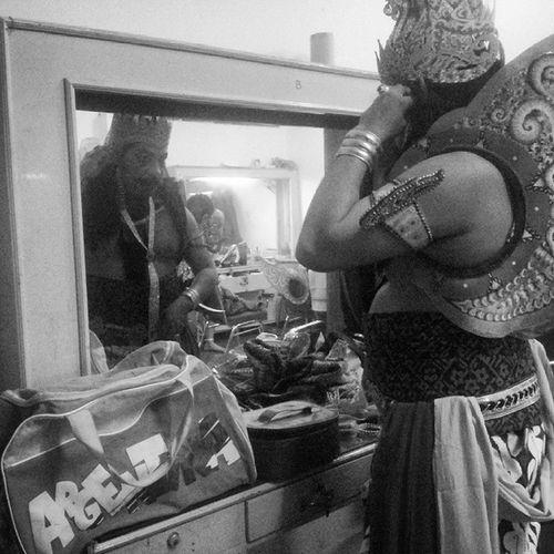 Behind the stage. Jawa Java Culture Budaya Epic Wayang Wayangorang Surakarta Solo Sriwedari Theater