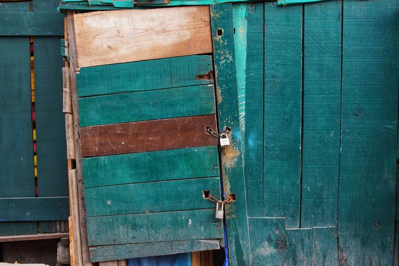 Palette Painted Wood Weathered Turquoise Backgrounds Textured  Wood - Material Pattern Old-fashioned Close-up Architecture Built Structure