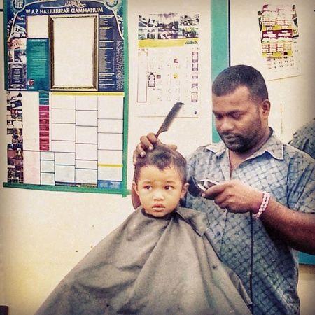 Bawak boboi g gunting rambut jap.. Barber Mawar Boboi