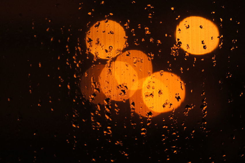 Night Desktop Background Wallpaper Background Bokeh Bokeh Lights Bokeh Bubbles Play Of Light moisture Night Window