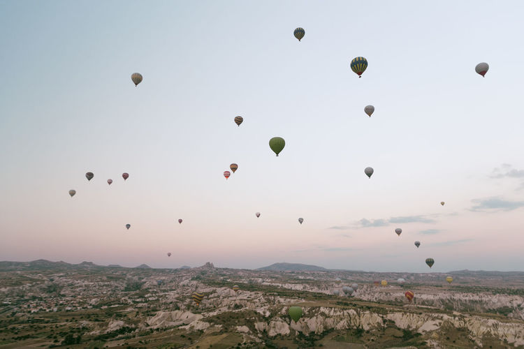 Early Morning In Cappadocia Cappadocia Cappadocia/Turkey EyeEm Best Shots EyeEm Selects EyeEm Gallery Fun Hot Air Balloons Hot Air Balloon Festival Adventure Balloon Ballooning Festival Beauty In Nature Cappadocia Hot Air Ballons Flying Freedom Go Higher Hot Air Balloon Hot Air Ballooning Landscape Mid-air Nature Scenics - Nature Sky Travel Travel Destinations #FREIHEITBERLIN