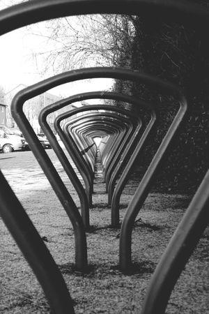 Durchblick Urbanphotography Perspective The Way Forward Transportation Bycicle City Blackandwhite Black & White Streetphotography Empty Frankfurt