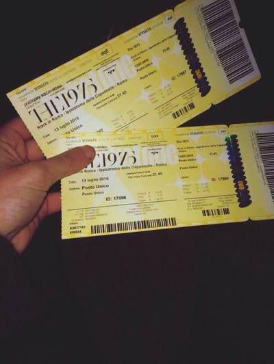 SO FUCKIN' EXITED The1975 InRome Exited  Omg Concert Tickets Hanging Out Taking Photos Enjoying Life Hello World Check This Out Relaxing That's Me Hi!