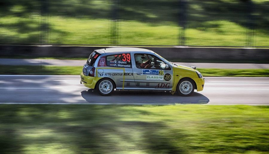 INA Delta Rally 2017 16valve 2.0  Renault Clio RS Zagreb Blurred Motion Bundek Car Clio Sport Ina Delta Rally No People Racecar Rally Rally 2016 Speed Sports Track Yellow