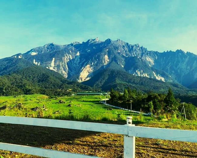 Beautiful Mountain Aki Kinabalu . Proud of it , really beautiful 😍😍❤❤ Mountain Landscape Scenics Mountain Range Tree Meadow Sky Grass Road Blue Pinaceae No People Snow Summer Outdoors Springtime Nature Beauty Day Beauty In Nature
