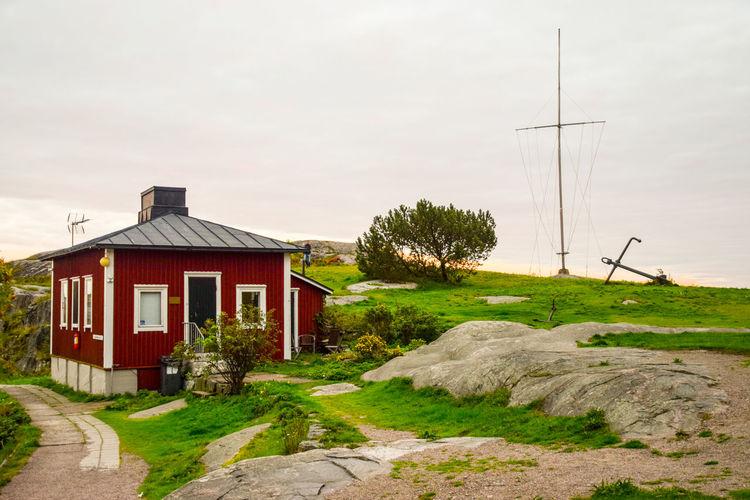 Granite Grass Helsinki House Liuskasaari No People Outdoors Rural Scene Skifferholmen Tranquil Scene Tranquility