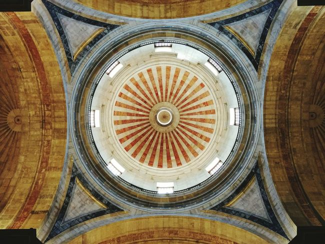 Neighborhood Map Low Angle View Architecture Dome Travel Destinations Lissabon, Pantheon