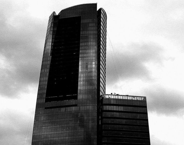 Low Angle View Sky Architecture Built Structure No People Outdoors Day Cloud - Sky Building Exterior Skyscraper Buckhead, Atlanta Black And White Photography Buildings Buckheadatlanta Business Finance And Industry City Architecture
