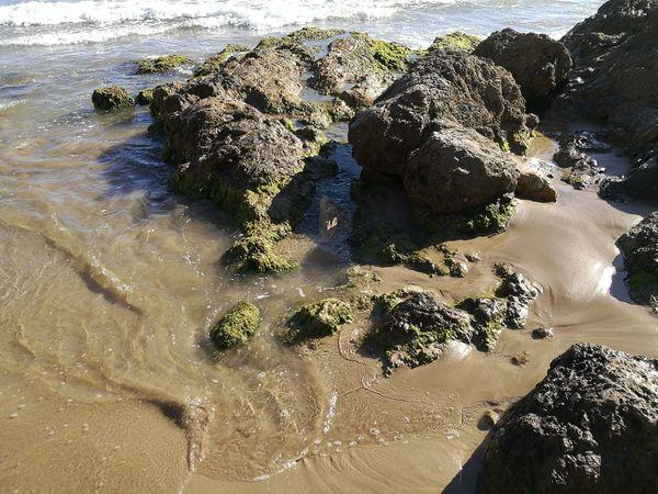 Nature Beautiful Day Water Vilanova I La Geltru Beach Sand Sunlight Rock - Object