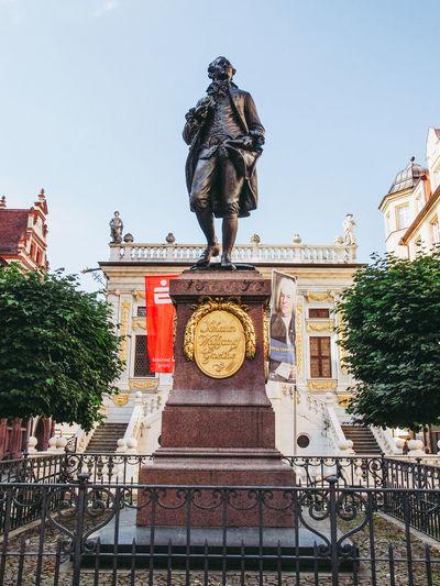 Goethe Denkmail in Leipzig Deutschland Goethe Denkmal Leipzig Architecture Germany Goethe Monument Poet Statue