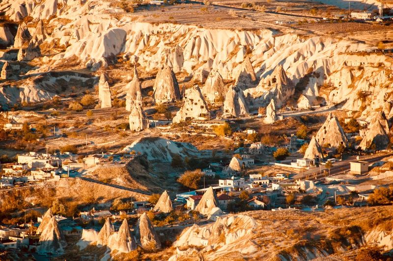 Cappadocia Landscape from the air Hot Air Ballooning Geological Landscape Hoodoos Rock Solid Rock - Object No People Environment Nature Landscape Rock Formation Day Sunlight Land Outdoors Non-urban Scene Travel Travel Destinations Desert