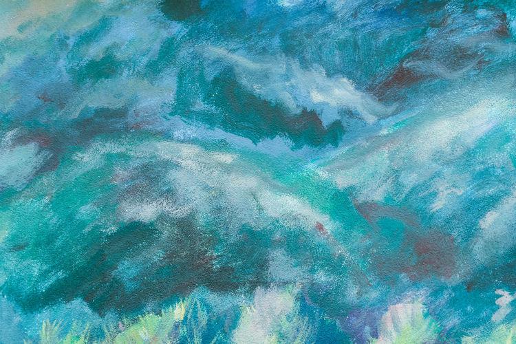 Full frame shot of blue rocks