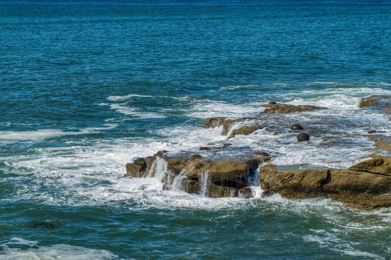 Waves and rocks