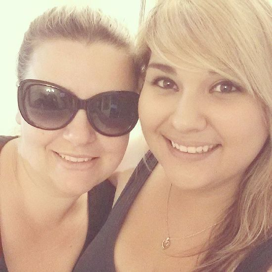 Jenna Lee and I. (Future sister-in law) Inlaws Reyesfamily