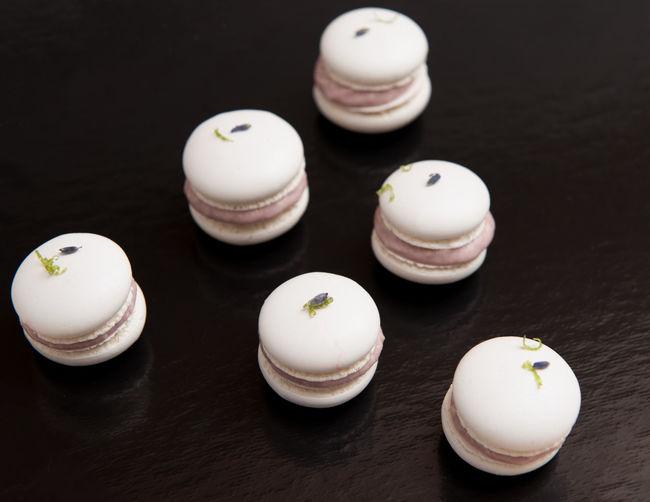Meringe Chocolate Dessert Black Background Food And Drink Lavender Lime Meringe Ready-to-eat Sweet Food