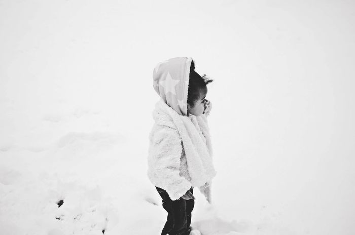How's The Weather Today? Snow Cold Ohio Baby Girl Monochrome Blackandwhite Columbus Nikon