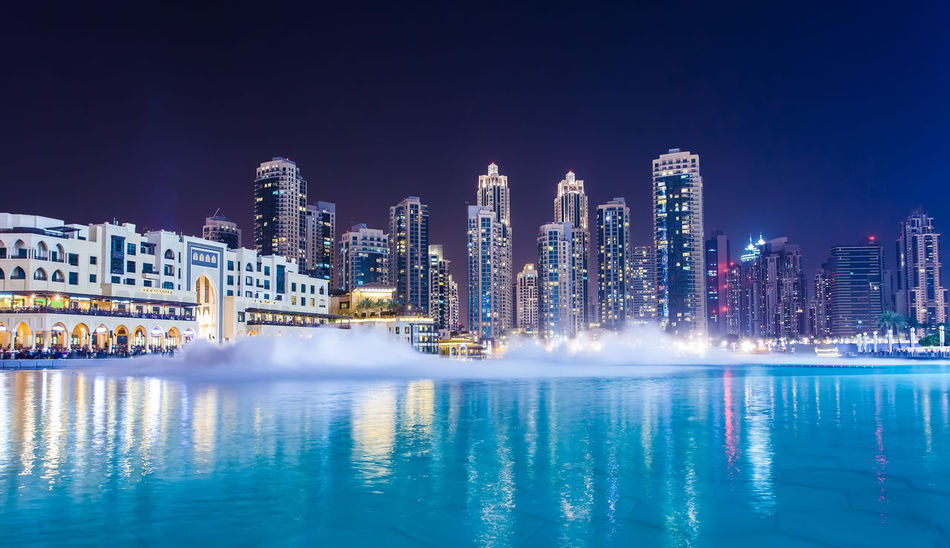 Marina Dubai Building Exterior Architecture Built Structure City Building Office Building Exterior Water Skyscraper Illuminated Night Waterfront Reflection Cityscape Landscape Urban Skyline Residential District City Life Nature Tall - High Modern No People Outdoors Financial District  Luxury