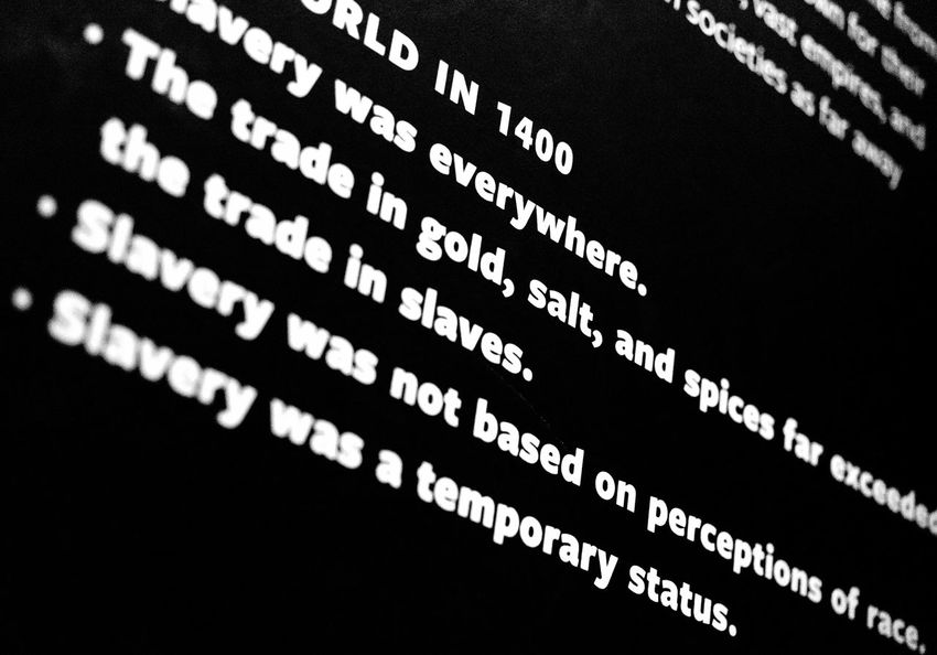 America Backgrounds Close-up Culture Day Freedom History Indepedence Indoors  National Museum Of African American History And Culture No People Rights Slavery Smithsonian States Text USA War Washington, D. C.