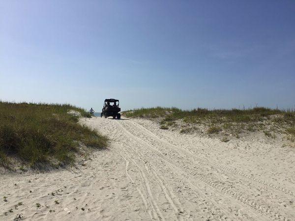 Life guard's dune buggy Jetty Park Port Canaveral Canaveral Florida Florida Beach Dune Buggy Sand Dunes