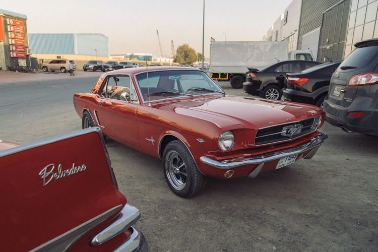 Ford Mustang 1967 Car Red Transportation Land Vehicle Street Mode Of Transport Stationary City Outdoors Road Architecture Sky No People Day Police Car Ford Mustang Ford Mustang