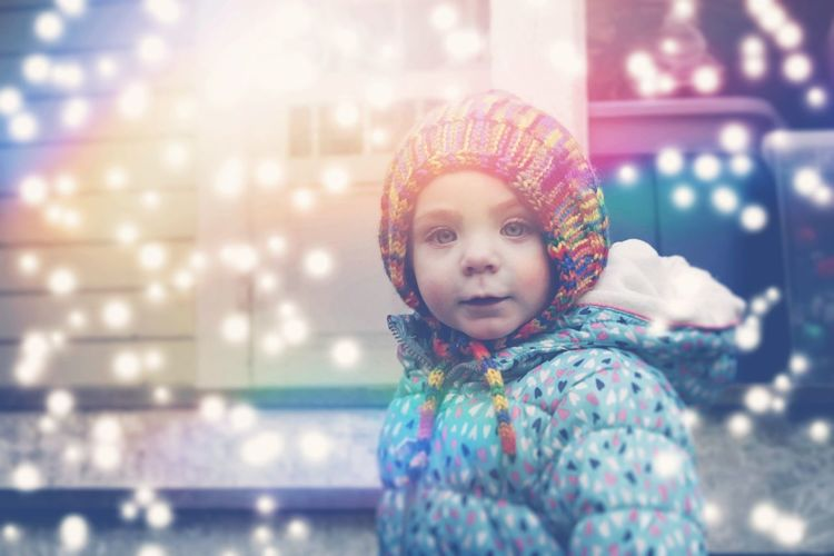 Kids Being Kids EyeEm Selects Kids Having Fun Facial Expression Little Girl Child Children Child Warm Clothing Portrait Childhood Girls Happiness Looking At Camera Close-up Snowflake Knit Hat Winter Coat Preschooler