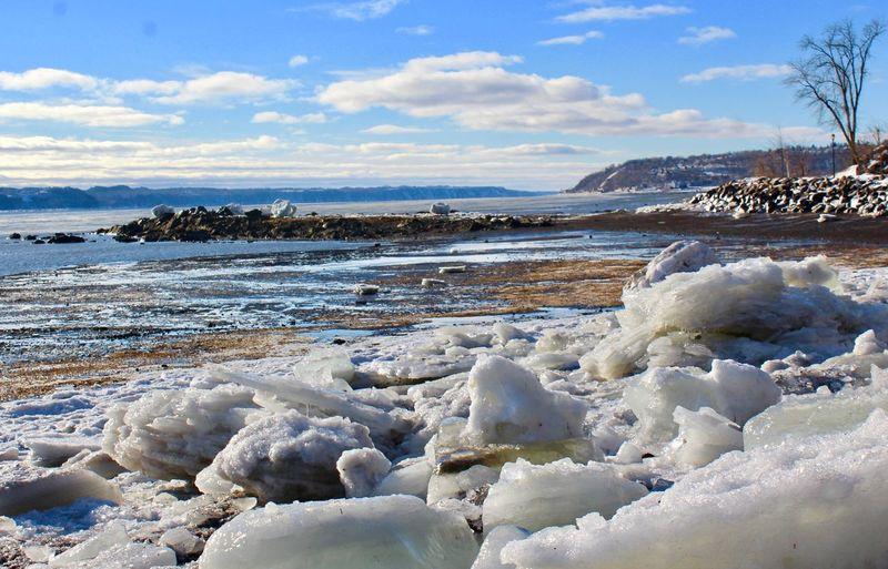 Water Cloud - Sky Sky Beauty In Nature Scenics - Nature Tranquil Scene Tranquility Day Nature Land No People Cold Temperature Winter Frozen Beach Sea Non-urban Scene Environment Snow Ice