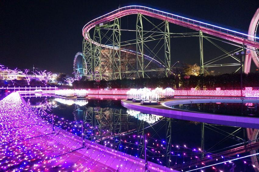 2014 Christmas Illuminated Illumination Jewellumination Yomiuriland よみうりランド クリスマス ジュエルミネーション 遊園地 Atraction Jetcoster ジェットコースター