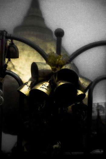 Bells Close-up Golden Rock Selective Focus