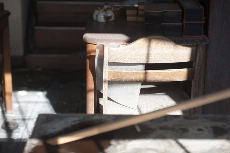 Close up of chair