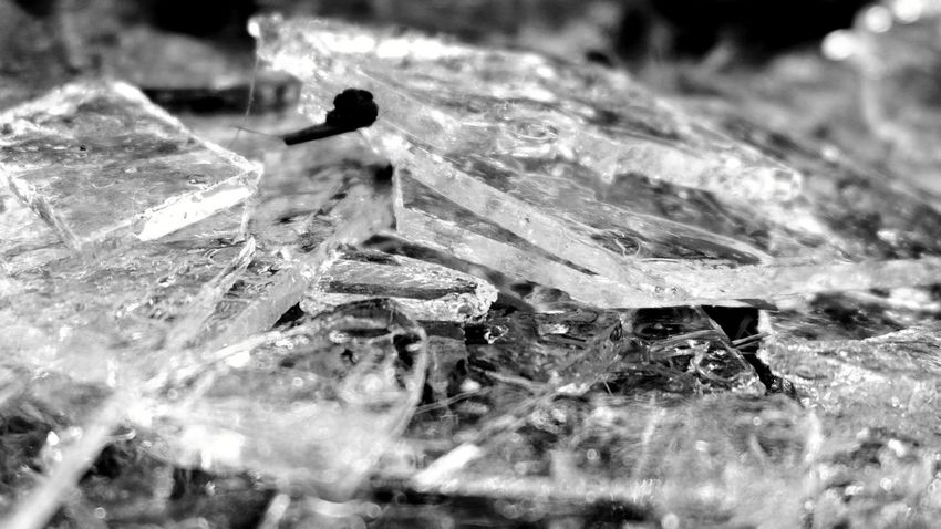 ice No People Fall Autumn Mood Silence Frozen Broken Pieces Natural Structures Blackandwhite Atmospheric Mood Still Life Pattern, Texture, Shape And Form Structures In Nature Material Mix EyeEm Best Shots EyeEm Nature Lover EyeEm Best Edits EyeEm Best Shots - Black + White Ice Glass Monochrome Clear Ice Frozen Nature Close-up Frost Frozen Water Cold Glacial Ice