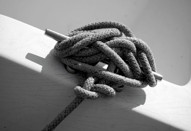 Detail Hold On Tight Rope Rope Art Sailors Knots Strength Tethered Tied Knot