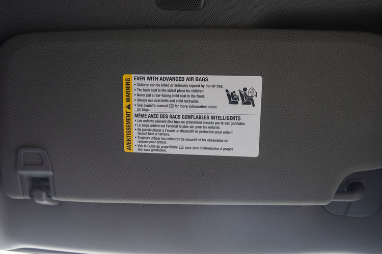 Air bag warning
