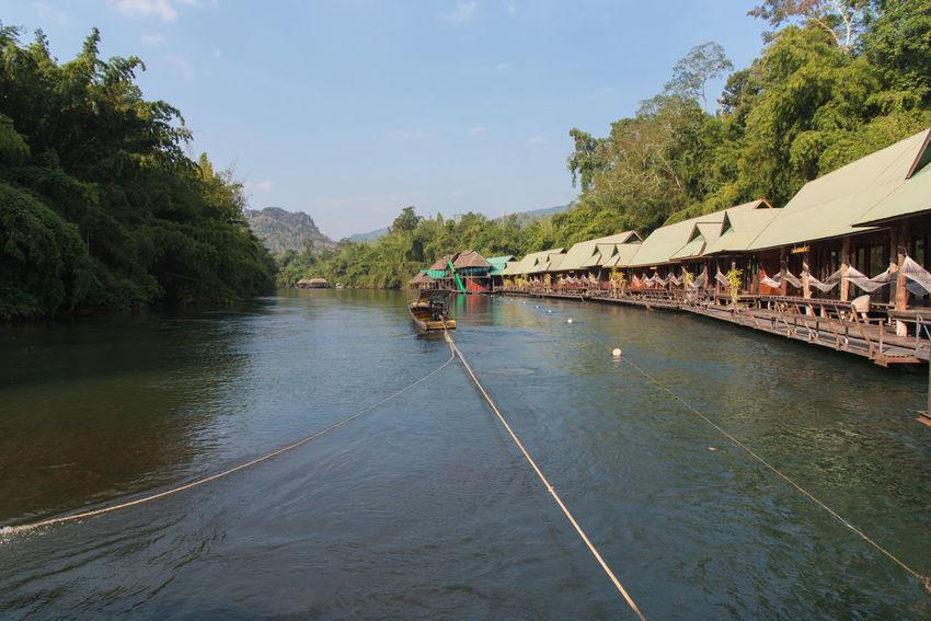 Boat Happy Kanchanaburi Kanchanaburi Thailand Landscape Nature Raff Relax Sangkhlaburi Thai Tourism Travel