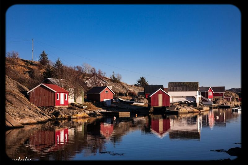 Sea Sky Blue Sky Norway Boathouse Nature_collection Eigerøy Egersund