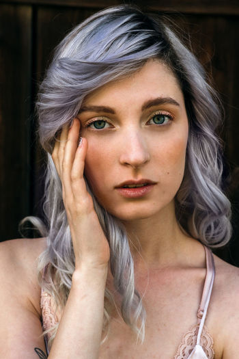 Blue Eyes Fashion Adult Alternative Medicine Beautiful Woman Beauty Colorful Hair Dyed Hair Fashion Photography Hair Hairstyle Headshot One Person Portrait Purple Purple Hair Real People Women Young Adult Young Women