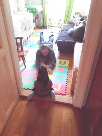 Indoors  Childhood Children Only Lifestyles Domestic Life Portrait People Photography November2016 The Places I've Been And The Things I've Seen Autumn 2016 Playing Grandfather Love My Family Love My Nephew Babysitting Leisure Activity Casual Clothing My Nephew