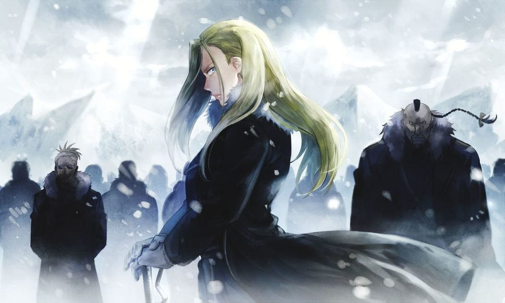 FullMetal Alchemist Brotherhood Fullmetal Alchemist Brotherhood Beautiful Strong Woman Anime Anime Art Art Anime Girl Winter