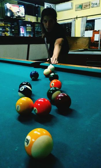 Pool Ball Pool - Cue Sport One Young Man Only Pool Table