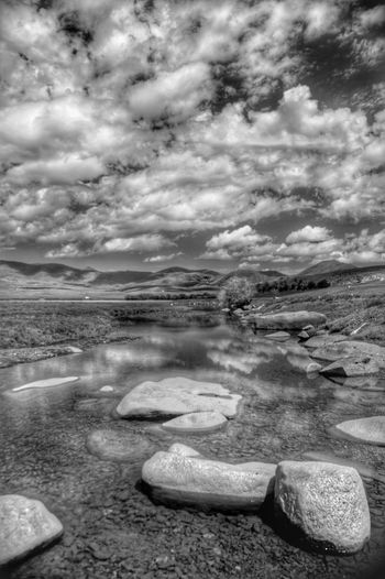 River Black And White Mongolia Монгол улс Steppe Outdoors Day Beauty In Nature Orkhon Valley Orkhon River Horizon Over Land Water Sky Cloud - Sky Landscape
