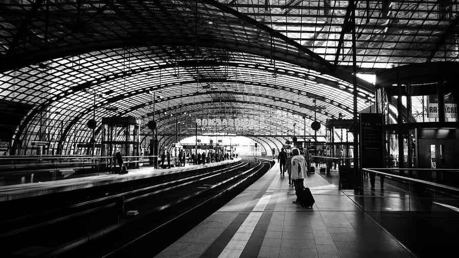 People At Railway Platform