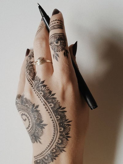 EyeEm Selects Human Hand Females Close-up Ink Tattooing Manicure Nail Polish