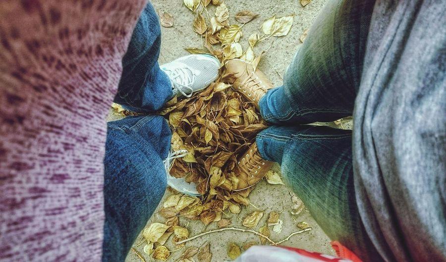 Сентябрь Осень 🍁🍂 Природа желтыелистья September листья пара Hello World любовь Love