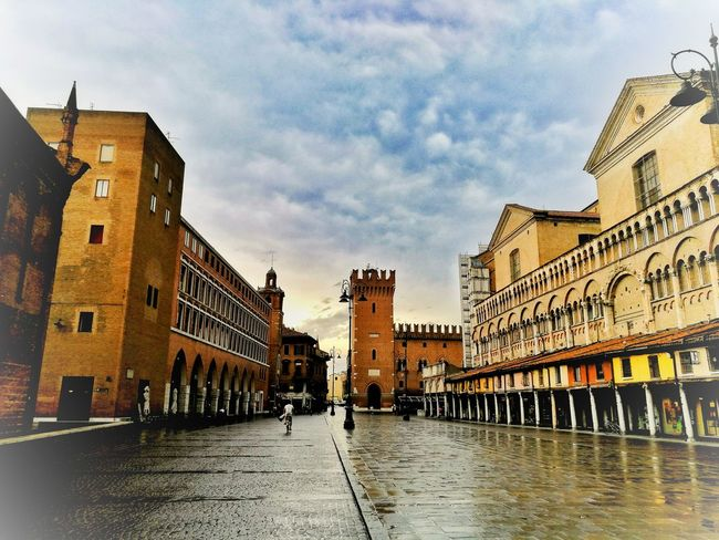 Architecture Building Exterior Built Structure Travel Destinations Day Outdoors Sky Cloud - Sky City People Adult Police Station Politics And Government Ferrara- Italy FerraraCity Ferrara
