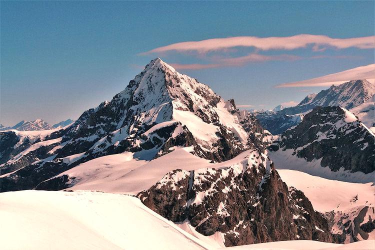 Scenic view of dent blanche, as seen from tete de valpelline, swisse italian border
