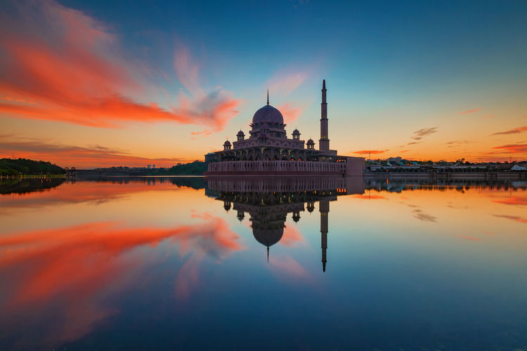 Sunrise at Putrajaya Mosque Sunrise Colors Sunrise_Collection Architecture Building Exterior Built Structure Cloud - Sky Clouds & Sky Day No People Outdoors Place Of Worship Reflection Religion Sky Spirituality Sunrise Sunrise And Clouds Sunrise_sunsets_aroundworld Travel Destinations Water Waterfront First Eyeem Photo
