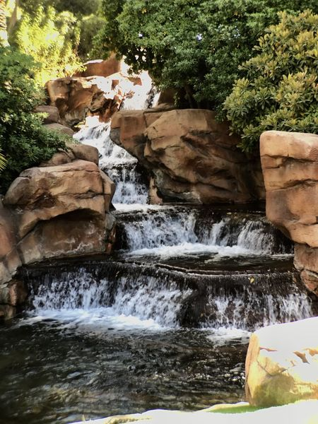 Water Waterfall Rock - Object Nature Flowing Water Scenics Motion No People Outdoors Day Beauty In Nature Tranquility Tree Mirage Hotel